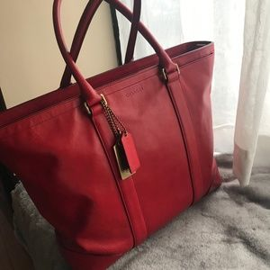 Coach | Bleecker Leather Business Tote Chile Red